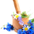 mortar and pestle with cornflowers stock photo © es75