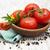 tomates · fraîches · feuilles · vertes · bois · fond - photo stock © Es75