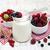 vörös · ribiszke · bogyók · fehér · kanál · fából · készült · étel - stock fotó © es75