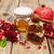 honing · granaatappel · appels · oude · houten · voedsel - stockfoto © es75