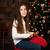 女の子 · おもちゃ · 馬 · 美しい · クリスマスツリー · 少女 - ストックフォト © es75
