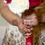 menyasszony · tart · virágcsokor · mutat · gyűrű - stock fotó © esatphotography