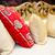 piros · krém · párnák · egy · otthon · háttér - stock fotó © esatphotography