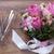 Valentijn · bloemen · wijnglas · houten · textuur · steeg - stockfoto © Escander81
