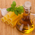 cannelloni with olive oil in a glass bottle fresh basil and gar stock photo © escander81