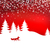 christmas background winter landscape with fox white fairy forest stock photo © essl