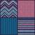 seamless knitted pattern set collection of blue pink white stock photo © essl