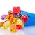 Rood · tulp · bloemen · hart · geschenkdoos · boeket - stockfoto © ewastudio