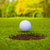 golf ball on lip of cup stock photo © ewastudio