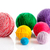 colorful different thread balls wool knitting on white backgrou stock photo © ewastudio