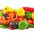 nyers · zöldségek · fonott · kosár · izolált · fehér - stock fotó © ewastudio