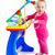 baba · játék · zene · zongora · billentyűzet · portré - stock fotó © ewastudio