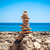 stones balance pebbles stack over blue sea stock photo © ewastudio
