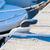 csónak · agancs · részlet · króm · trombita · fából · készült - stock fotó © ewastudio