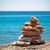 stones balance pebbles stack over blue sea stock photo © ewastudio
