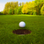 golf ball on lip of cup stock photo © ewastudio