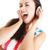 dziewczyna · słuchania · co · odizolowany · biały · kobieta - zdjęcia stock © ewastudio