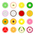 collection of vector fruit icons stock photo © expressvectors