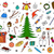hand drawn christmas elements in doodle style stock photo © expressvectors