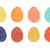 colorful easter eggs collection in doodle style hand drawn stock photo © expressvectors