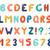 alfabeto · funk · cartas · crianças · diversão · colorido - foto stock © expressvectors