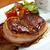grillezett · marhahús · filé · medál · mártás · izolált - stock fotó © fanfo