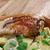 turkey leg with baked potatoes stock photo © fanfo