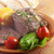 plakje · rundvlees · asperges · tomaten · tomaat · biefstuk - stockfoto © fanfo