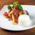 servido · ternera · placa · cuchillo · tenedor · cena - foto stock © fanfo