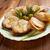 tyúk · tekercsek · finom · tányér · ebéd · friss - stock fotó © fanfo