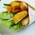 desayuno · pollo · cena · carne · tomate · comida - foto stock © fanfo