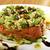 saláta · lazac · ikra · egészséges · vegetáriánus · fehér - stock fotó © fanfo