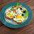 huevos · revueltos · tocino · lechuga · placa · carne · desayuno - foto stock © fanfo
