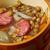 spanyol · chorizo · szeletek · piros · fűszeres · füstölt - stock fotó © fanfo