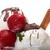 ice cream with chocolate sauce and strawberriescinnamo stock photo © fanfo