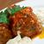 házi · húsgombócok · házi · készítésű · tálca · kész · szakács - stock fotó © fanfo