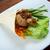 desayuno · cerdo · rebanada · pepino · cena · carne - foto stock © fanfo