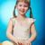 küçük · kız · gülen · mutfak · detay · eller - stok fotoğraf © fanfo