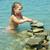 little girl on the beach stock photo © fanfo