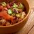 tigela · pimenta · fundo · jantar · refeição · carne - foto stock © fanfo