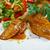 pollo · alla · griglia · seni · piatto · verdure · fresche · salute · pollo - foto d'archivio © fanfo