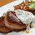 grillezett · marhahús · filé · medál · mártás · konyha - stock fotó © fanfo