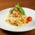 espaguete · garfo · folha · fundo · restaurante - foto stock © fanfo