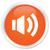 volume icon orange button stock photo © faysalfarhan