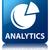 analytics graph icon glossy blue reflected square button stock photo © faysalfarhan