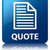 quote page icon glossy blue reflected square button stock photo © faysalfarhan