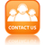 Contact Us (customer care team) glossy orange reflected square b stock photo © faysalfarhan