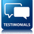 Testimonials glossy blue reflected square button stock photo © faysalfarhan