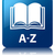 A-Z book glossy blue reflected square button stock photo © faysalfarhan