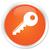 Key icon orange button stock photo © faysalfarhan
